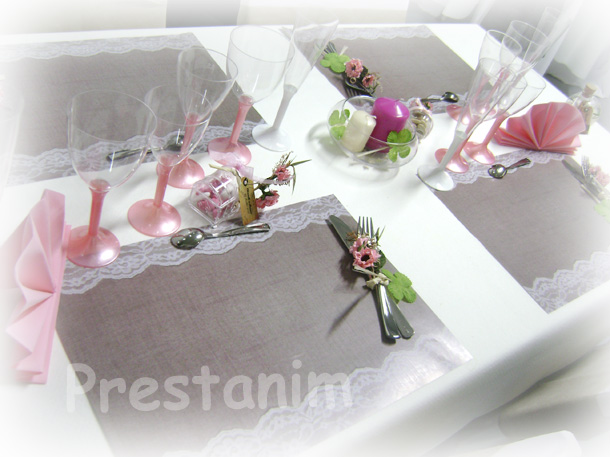 Prestanim France Set De Table Romantique