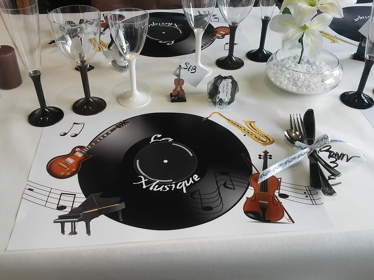 decoration de table theme musique