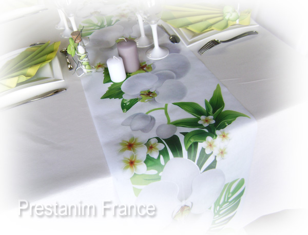 decoration exotique chemin de table - Deco Table Exotique
